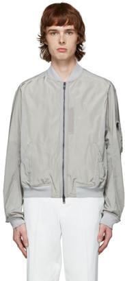 Haider Ackermann Grey Nylon Bomber Jacket