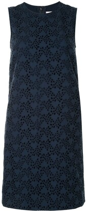 Carolina Herrera Embroidered Shift Mini Dress