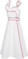 Vika Gazinskaya Ruffle Wrap Dress