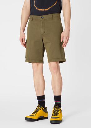 Paul Smith Men's Khaki Cotton-Stretch Shorts