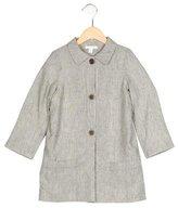 Marie Chantal Girls' Linen-Blend Striped Coat