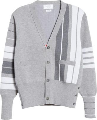 Thom Browne Stripe 4-Bar Merino Wool Cardigan