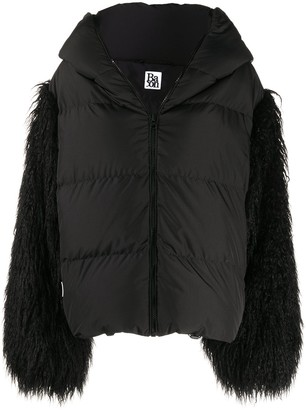 Bacon Faux Fur Sleeve Puffer Jacket