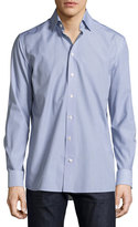 Eton Car-Print Sport Shirt, Navy