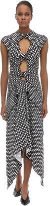 Proenza Schouler Printed Stretch Viscose Cady Midi Dress