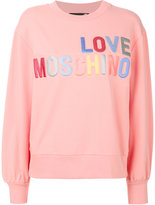 Love Moschino appliqué letter jumper - women - Cotton/Spandex/Elastane - 38