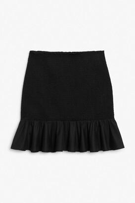 Monki Shirred mini skirt