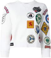 DSQUARED2 patch three-quarter sleeved sweatshirt