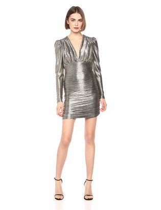 BCBGMAXAZRIA Azria Women's Metallic Shirred Bodycon Dress