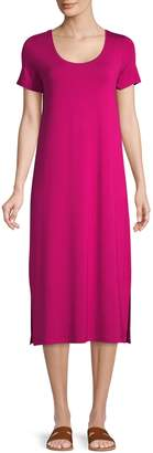 Lord & Taylor Short-Sleeve Midi Dress