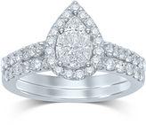 JCPenney MODERN BRIDE 1 CT. T.W. Fancy-Cut Diamond Pear-Shaped 14K White Gold Bridal Ring Set