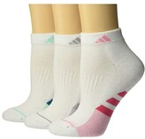 adidas Cushioned II Low Cut Socks 3-Pack (White/Real Pink/Light Pink/White/Light Pink Marl) Women's Crew Cut Socks Shoes