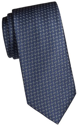 Brioni Geo Feather Silk Tie