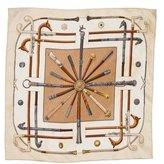 Hermes Les Cannes Silk Pocket Square