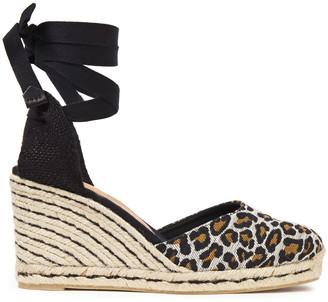 Castaner Carina 80 Cotton-blend Leopard-jacquard Wedge Espadrilles