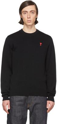 Ami Alexandre Mattiussi Black Merino Ami De Coeur Sweater