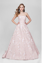 Terani Couture Sweetheart with Back Shirred Applique Gown 1712E3277