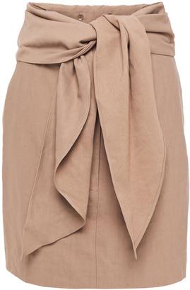 Tibi Belted Twill Mini Skirt
