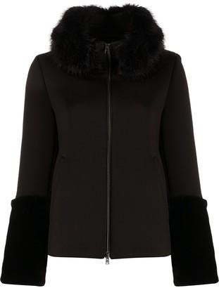 Herno Faux-Fur Panelled Jacket