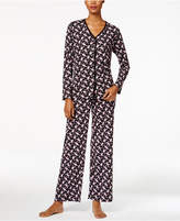 Charter Club Loop-Trimmed Printed Pajama Set, Only at Macy's