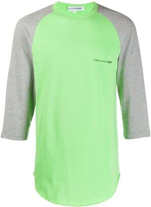 Comme des Garcons printed logo colour block T-shirt