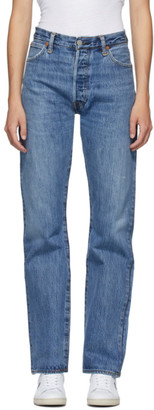 RE/DONE Blue High-Rise Loose Jeans