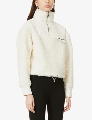 The Kooples Sport Cropped fleece jacket