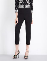 Alexander McQueen Cropped stretch-wool leggings