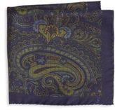 Saint Laurent Paisley-Print Silk Pocket Square