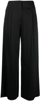 Tela High-Waisted Cotton-Blend Trousers