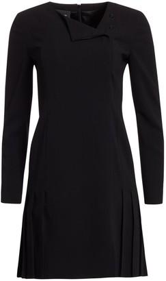 Akris Double-Face Wool Short Dress