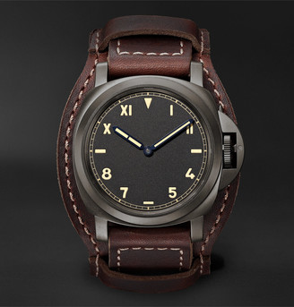Panerai Luminor California 8 Days Dlc Hand-Wound 44mm Titanium And Leather Watch