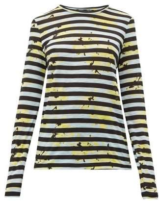 Proenza Schouler Striped Long-sleeved Cotton T-shirt - Womens - Blue Multi