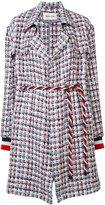Michel Klein belted tweed coat