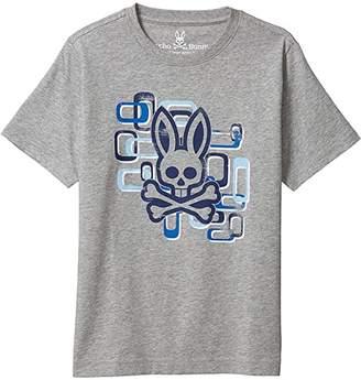 Psycho Bunny Kids Dorset Graphic Tee (Toddler/Little Kids/Big Kids) (Heather Grey) Boy's Clothing