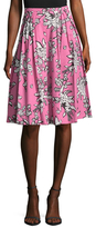 RED Valentino Cotton Print A Line Skirt