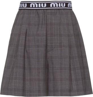 Miu Miu Prince of Wales check shorts