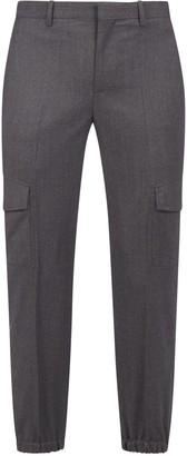 Neil Barrett Stretch Wool Cargo Pants