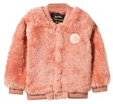 Mini Rodini Pile Baseball Jacket Pink