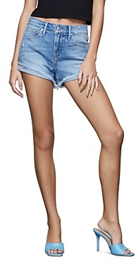 Good American High Waist Jean Shorts in Blue466