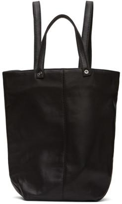 Ludovic de Saint Sernin Black Leather Eyelet Backpack