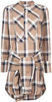 Derek Lam 10 Crosby collarless tie-waist shirtdress