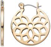 Chaps Openwork Medallion Hoop Earrings
