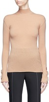 Ellery 'Yours Sincerely' barbell cuff funnel neck sweater