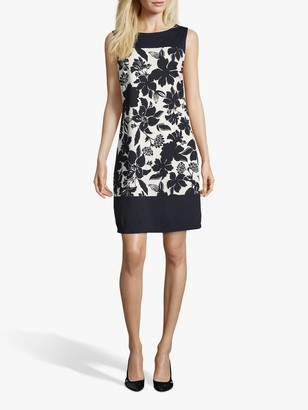 Betty Barclay Floral Print Dress, Dark Blue/Multi