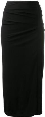 Helmut Lang Twisted mid-length skirt