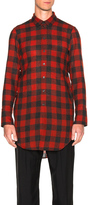 Ann Demeulemeester Plaid Button Down Shirt