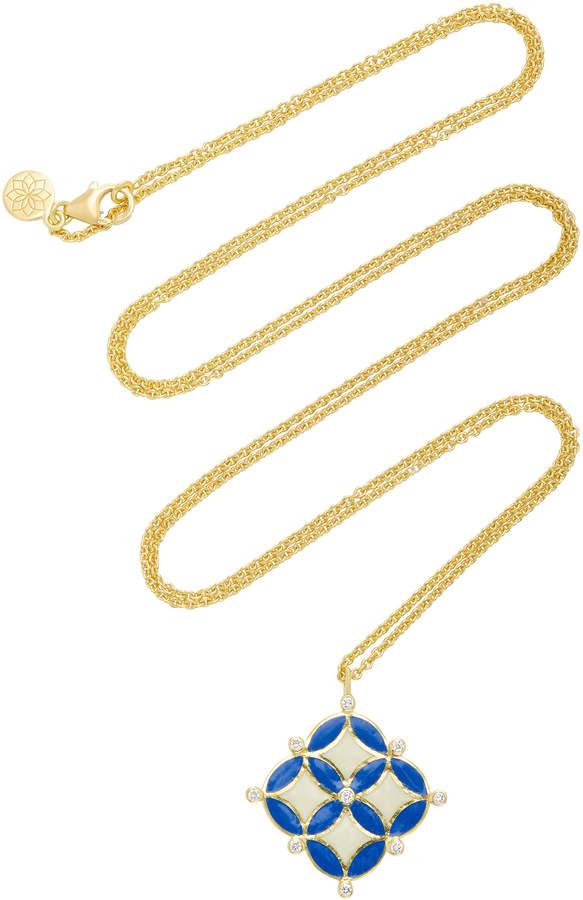 Amrapali Mosaic 18K Gold And Diamond Necklace