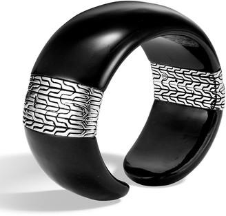 John Hardy Classic Chain Wide Silver Kick Cuff Bracelet