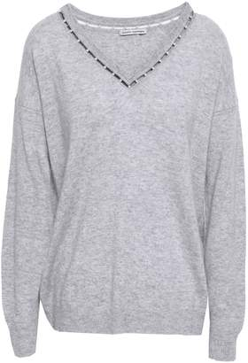 Autumn Cashmere Faux Pearl-embellished Cutout Cashmere Sweater
